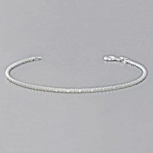 Italian Popcorn Chain Sterling Silver Bracelet