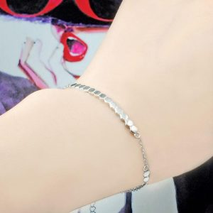Sterling Silver Hexagon Bar Bracelet