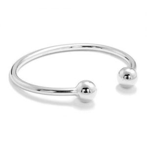 10 mm Silver Ball Torque Bangle