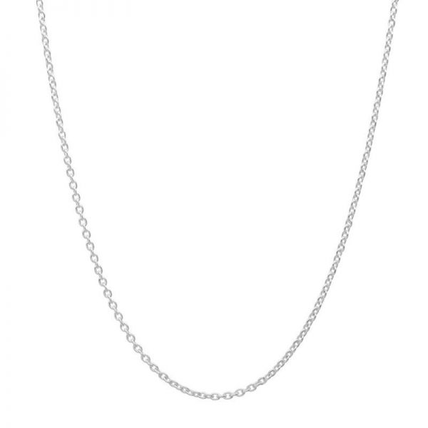 Sterling Silver Cable Chain 16 Inch + 2 Inch Extender