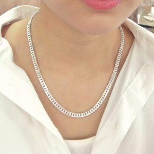 Italian Sterling Silver Diamond Cut Chain Necklace