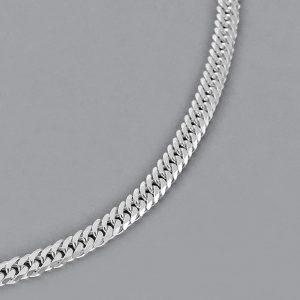 Italian Sterling Silver Diamond Cut Men's Chain Necklace