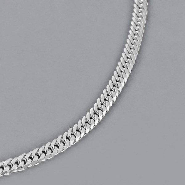 Italian Sterling Silver Diamond Cut Men's Chain Necklace