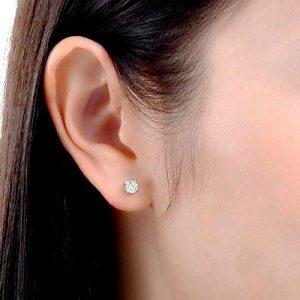 Sterling Silver 0.9 Carat Cubic Zirconia Earrings