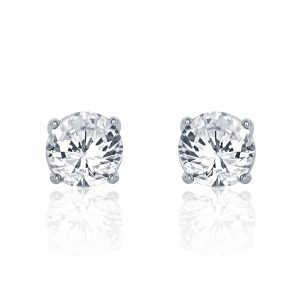 Sterling Silver 1.6 Carat Cubic Zirconia Earrings