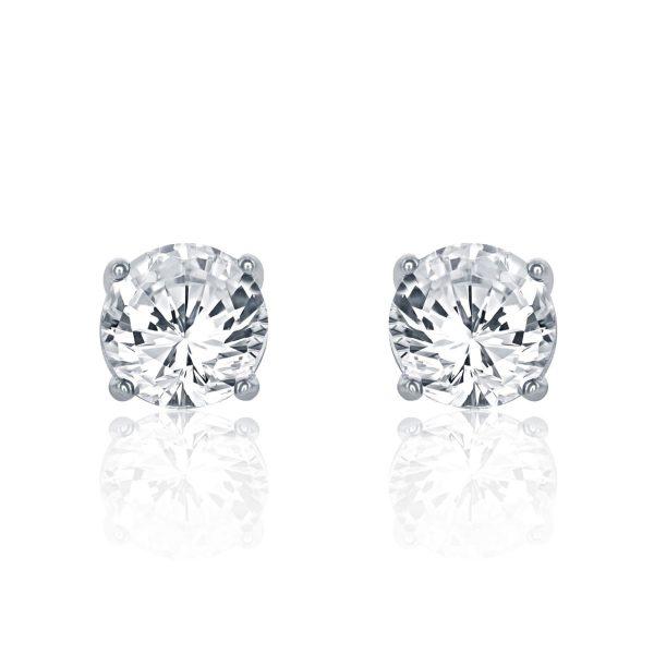 Sterling Silver 1.6 Carat Cubic Zirconia Earrings