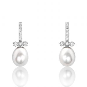 Freshwater Cultured Pearl Sterling Silver Earrings
