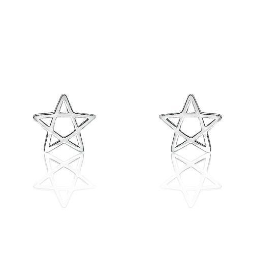Star Sterling Silver Fashion Earrings