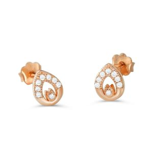Rose Gold over Sterling Silver Exquisite Earrings