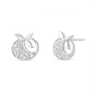 Sterling Silver Tomato Earrings
