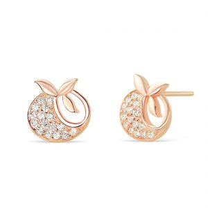 Rose Gold Plated Silver Tomato Earrings