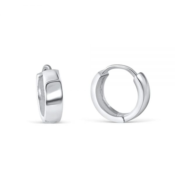3.5mm Sterling Silver Earrings Hoop