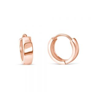 3.5mm Rose Gold Plated Sterling Silver Earrings Hoop