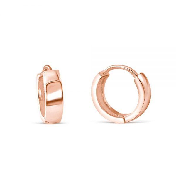 3.5mm Rose Gold Plated Sterling Silver Earrings Hoop