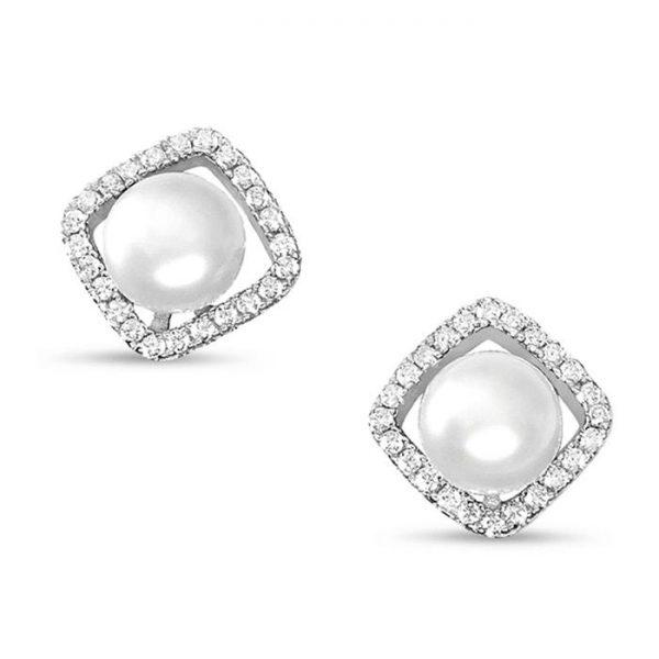 Sterling Silver Freshwater Cultured Pearl Earrings Studs