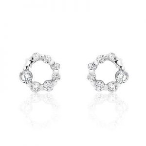 925 Sterling Silver Cubic Zirconia Glamorous Earrings