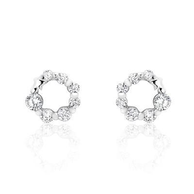 925 Sterling Silver Cubic Zirconia Glamorous Earrings