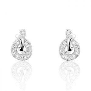 Stunning 925 Sterling Silver Cubic Zirconia Earrings