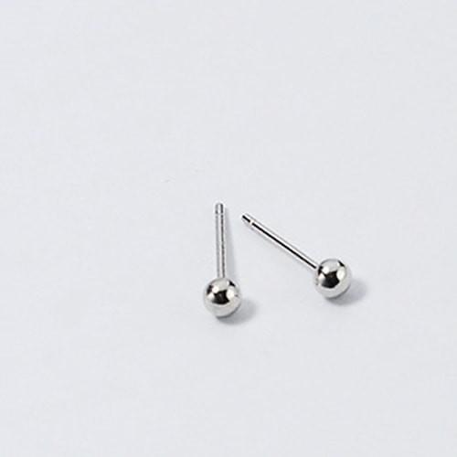 3-5mm Sterling Silver Ball Stud Earrings