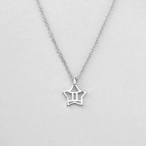 Silver Star Gemini Necklace - 21/5 to 20/6