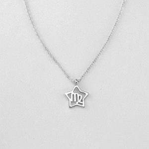 Silver Star Virgo Necklace - 23/8 to 22/9