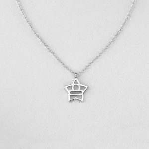 Silver Star Libra Necklace - 23/9 to 22/10