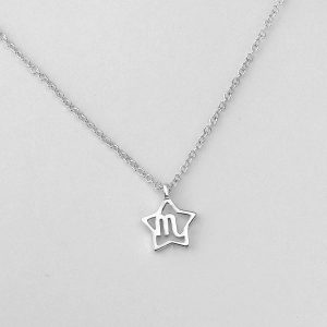 Silver Star Scorpio Necklace - 23/10 to 21/11