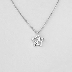 Silver Star Sagittarius Necklace - 22/11 to 21/12