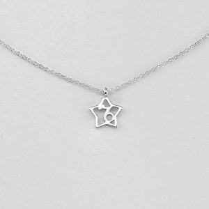 Silver Star Capricorn Necklace - 22/12 to 19/1