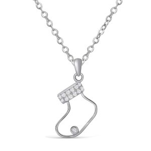Sterling Silver Christmas Stocking Necklace