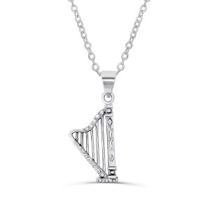 Sterling Silver Harp Necklace