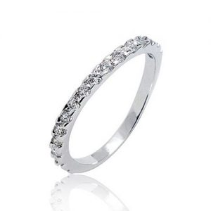 925 Sterling Silver Cubic Zirconia Fashion Ring 1.75 mm CZ
