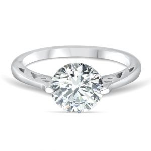 3.35 Carat Cubic Zirconia Fashion Solitaire Silver Ring