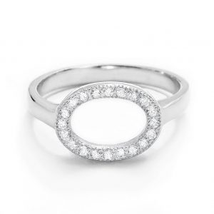 Sterling Silver Cubic Zirconia Circular Ring