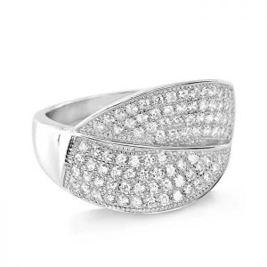 Sterling Silver Micro Pave Setting CZ Gorgeous Ring