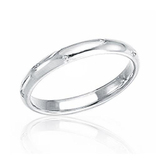 Classic 925 Sterling Silver Cubic Zirconia Band Ring