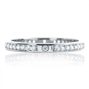 Beautiful 2.2mm Sterling Silver Cubic Zirconia Eternity Ring