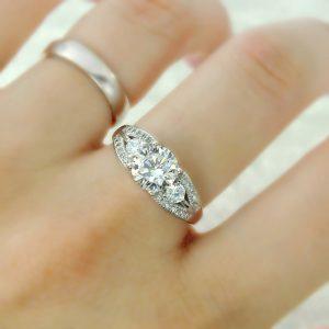 Elegant Brilliant Cut Cubic Zirconia Sterling Silver Ring