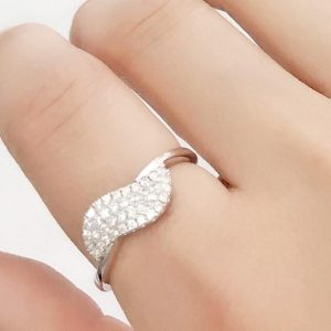 Beautiful Pave Setting Cubic Zirconia 925 Sterling Silver Ring