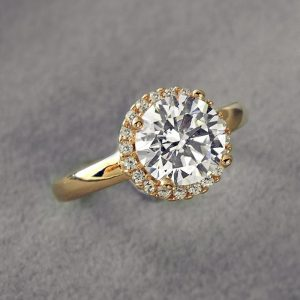 Gorgeous Rose Gold over Sterling Silver Brilliant CZ Ring