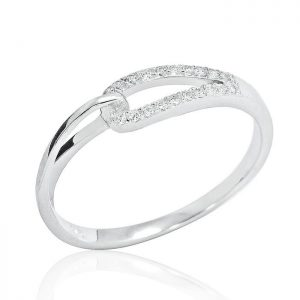 Fancy 925 Sterling Silver Cubic Zirconia Ring