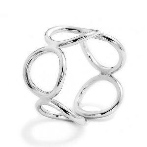 Sterling Silver Fashion Circle Ring