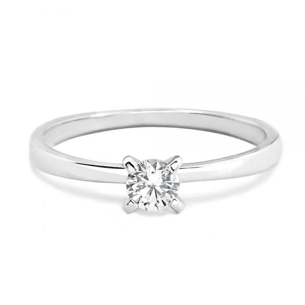 4cece2831 Sterling Silver 4mm Cubic Zirconia Solitaire Ring - Boutique Fan