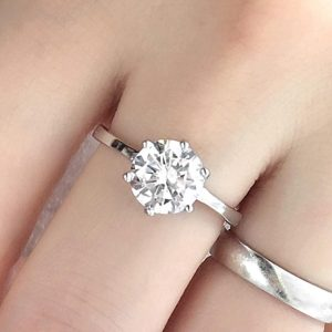 3.35ct Cubic Zirconia Silver Engagement Ring